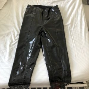 Blank NYC liquid patent leather leggings, size 25